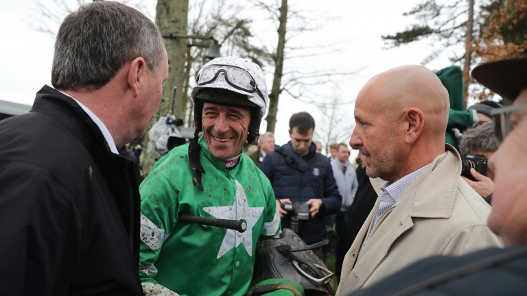 Pat Kelly, Davy Russell and Philip Reynolds discuss Presenting Percy's Galmoy Hurdle triumph