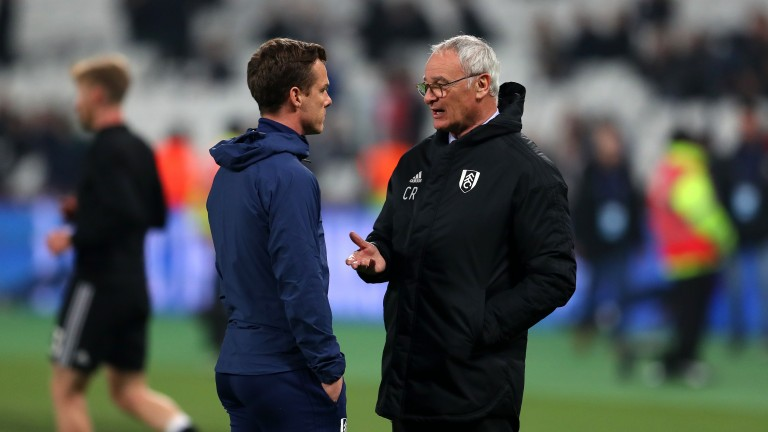 Scott Parker (left) takes caretaker charge of Fulham after the dismissal of Claudio Ranieri (right)