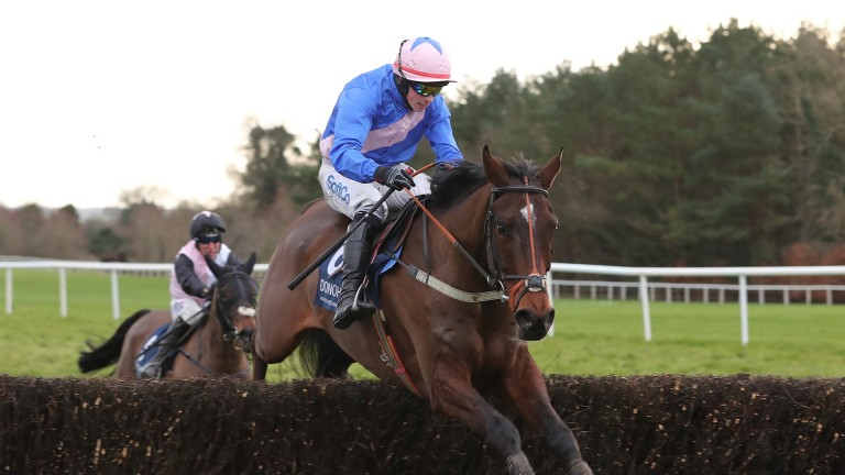 Riders Onthe Storm: has run just three times over fences and may have room for improvement