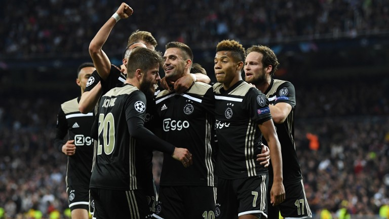 Ajax celebrate a famous win in Madrid