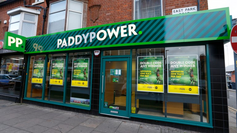 Paddy Power: will be closing all British shops until the end of April