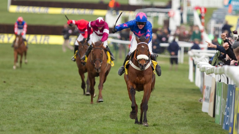 Cue Card wins the 2013 Ryanair Chase