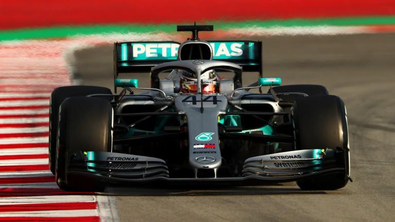Lewis Hamilton of Mercedes during F1 Winter Testing at Circuit de Catalunya