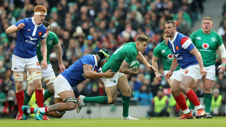 Garry Ringrose on the charge against France
