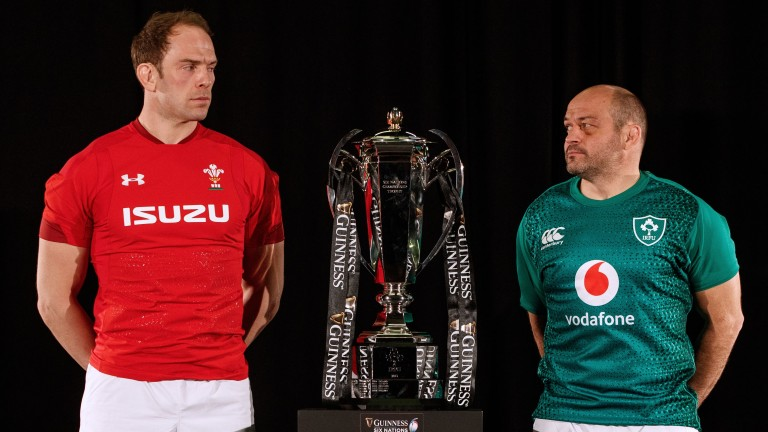 Captains• Alun-Wyn Jones of Wales and Ireland'•s Rory Best