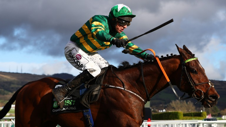Espoir D'Allen: his Champion Hurdle triumph was one of many upsets on day one