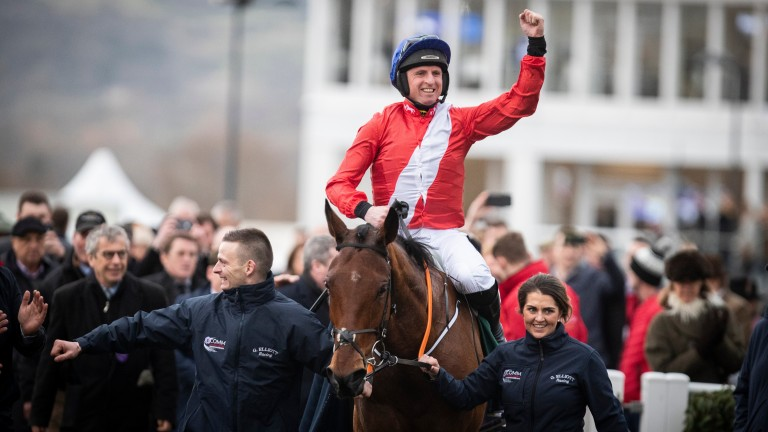 Irish amateur Jamie Codd earned his ninth success at the Cheltenham Festival with Envoi Allen in the Champion Bumper