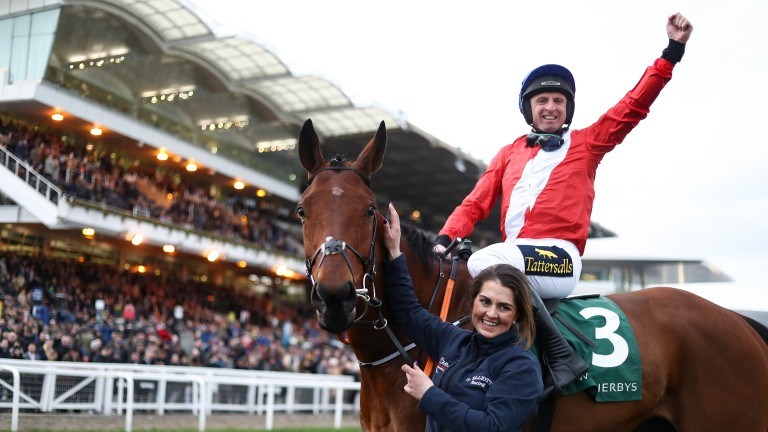 Jamie Codd: the most successful amateur at the Cheltenham Festival, pictured after winning the Champion Bumper aboard Envoi Allen last season
