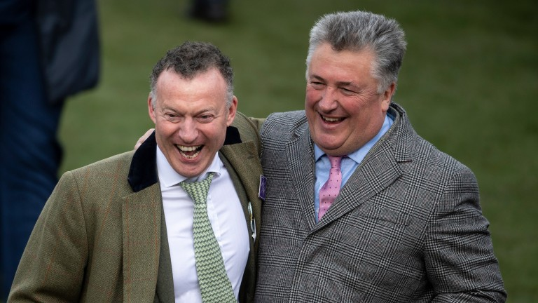 Paul Nicholls: in celebratory mood