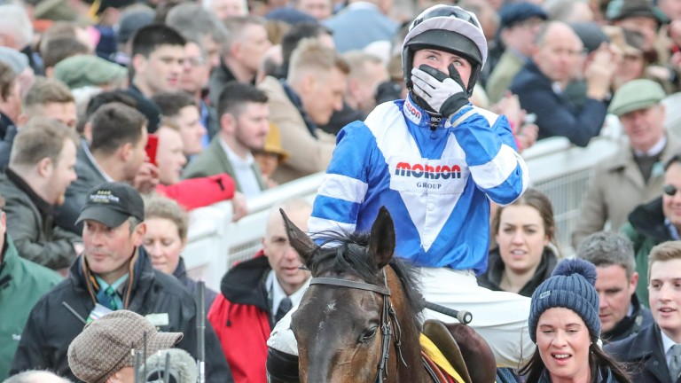Bryony Frost: emotional after winning the Ryanair