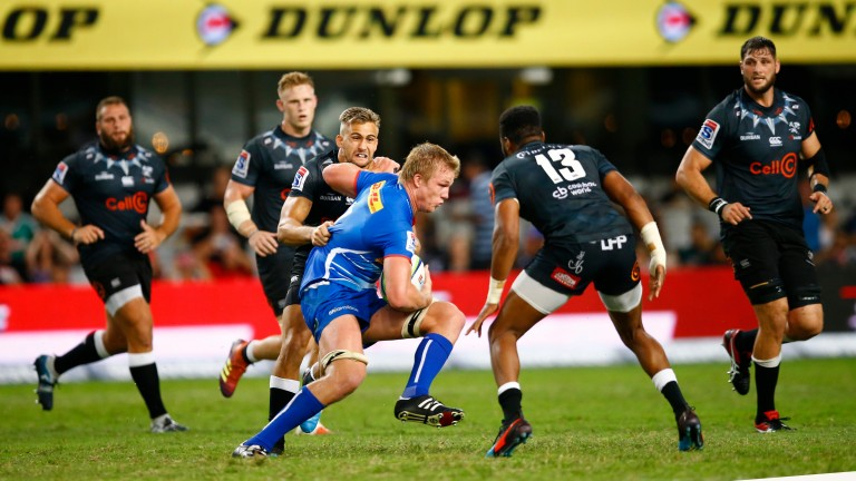 Stormers forward Pieter-Steph du Toit takes on the Sharks defence