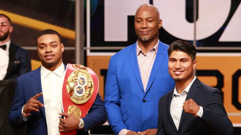 Errol Spence Jr, Lennox Lewis and Mikey Garcia
