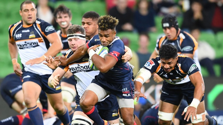 Will Genia makes a break for the Rebels in their Melbourne win over the Brumbies