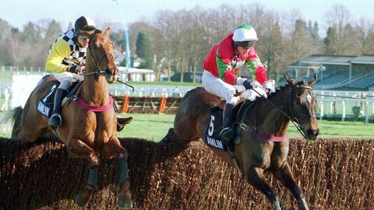 Smart chaser Jimmy Tennis (right) carries the Clee silks at Ascot in 2002