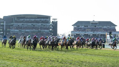 The start of the 2018 Grand National at Aintree