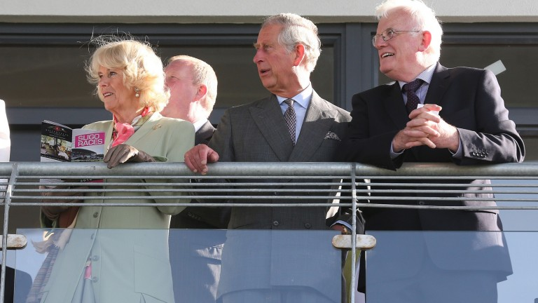 Royal approval at Sligo as the Prince of Wales and Duchess of Cornwall watch the action in company with racecourse chairman Kieran O'Connor