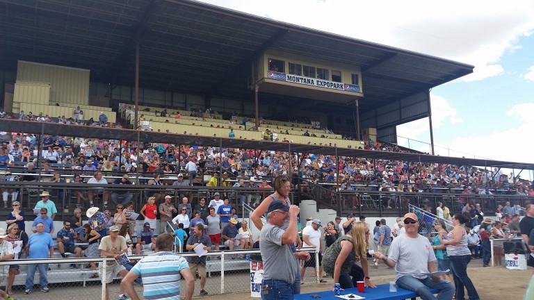 The grandstands during the Great Falls Turf Club's state fair meeting at the Montana Expo Park