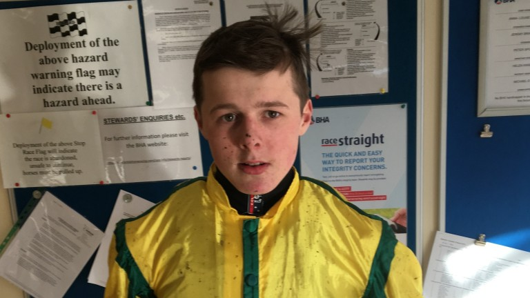 Oakley Brown: jockey was taken to hospital following a nasty incident at Hexham