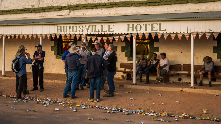 A day at Birdsville races is clearly thirsty work, even if you're just a spectator
