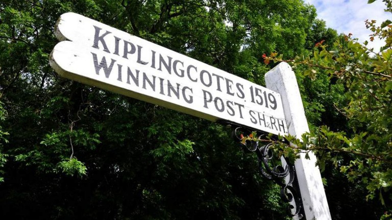 The winning post of the Kiplingcotes Derby, which celebrates its 500th anniversary on Thursday