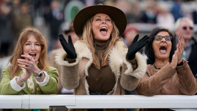 Carol Vorderman (centre) and Mindy Hammond (left) celebrate Subway Surf's win