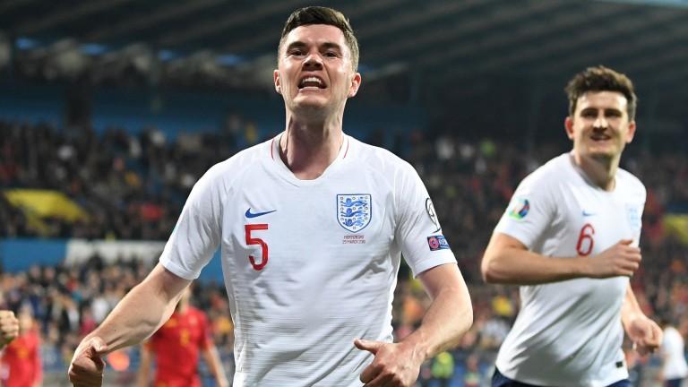 Michael Keane scored England's first goal against Montenegro