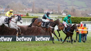 Politologue (grey) could meet Altior (black cap) in the Melling Chase