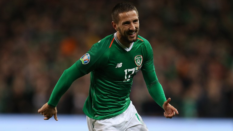 Conor Hourihane netted the winner for Ireland against Georgia