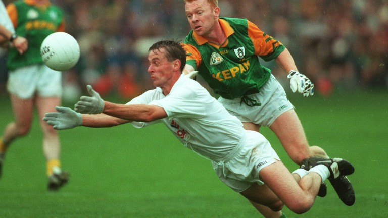 Seamus Dowling in action for the Kildare senior football team