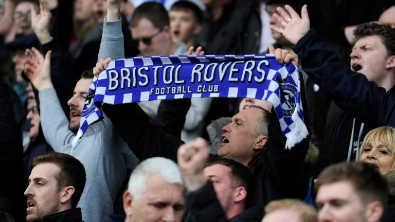 Bristol Rovers fans show their support