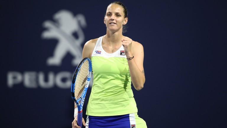 Karolina Pliskova enjoyed a straight-sets semi-final success over Simona Halep in Miami