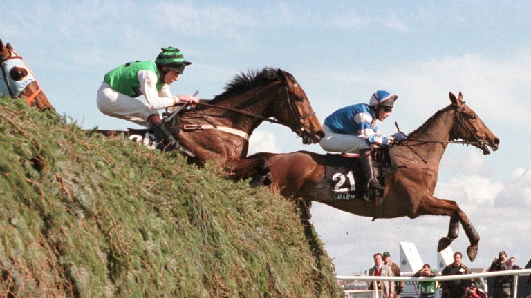 Blue Charm leads the Grand National field over The Chair