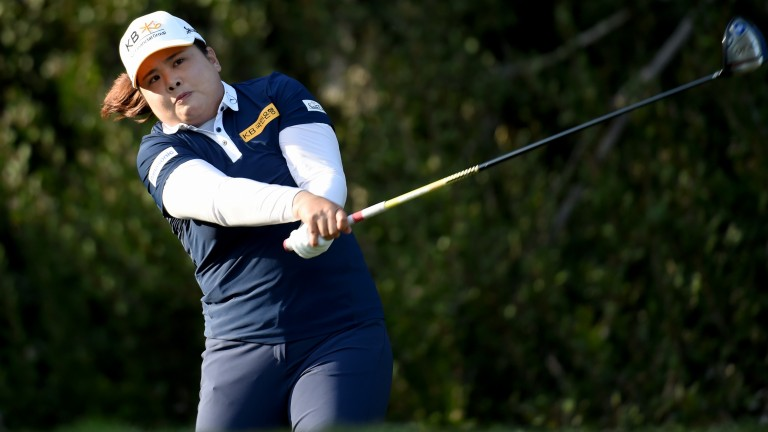 Inbee Park gives the ball some welly in the Kia Classic last week