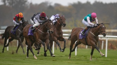 Imaging and Oisin Orr wins the Spin1038 Heritage Stakes (Listed) from Zihba.Leopardstown.Photo: Patrick McCann/Racing Post 03.04.2019