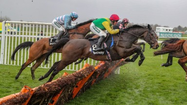 SUPASUNDAE (Robbie Power) wins The Grade 1 Betway Aintree Hurdle  at AINTREE 4/4/19Photograph by Grossick Racing Photography 0771 046 1723