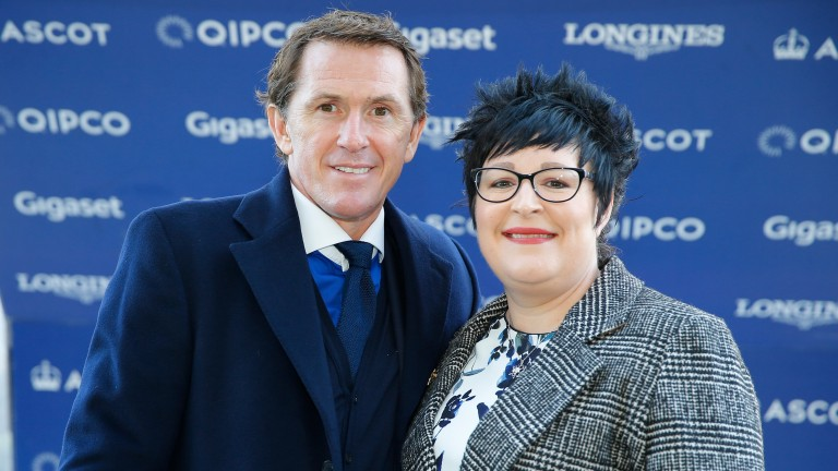 Lorraine Archibald with Sir Anthony McCoy at Ascot in December