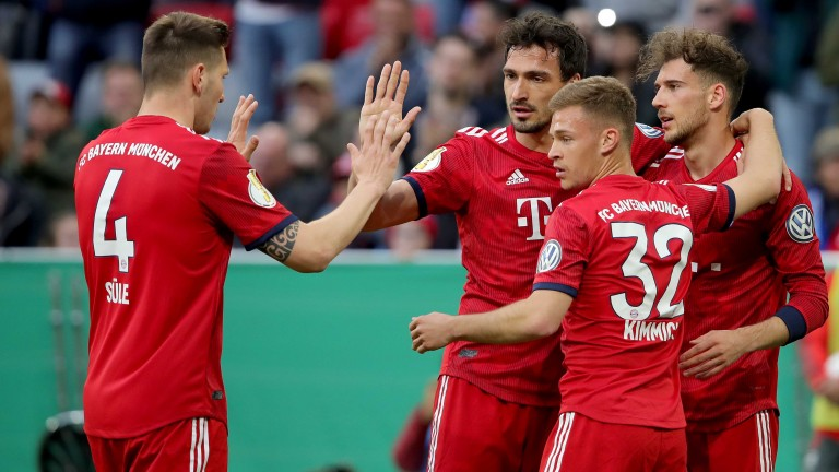 Bayern Munich are tussling with Borussia Dortmund for the Bundesliga title