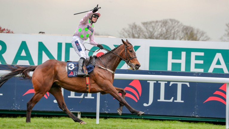 MIN (Ruby Walsh) wins at AINTREE 5/4/19 Photograph by Grossick Racing Photography