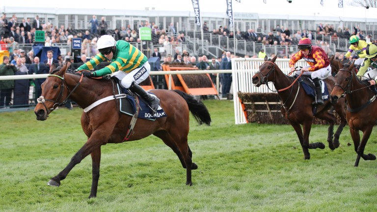 Champ proved too good for his high-class opposition in the Sefton Novices' Hurdle