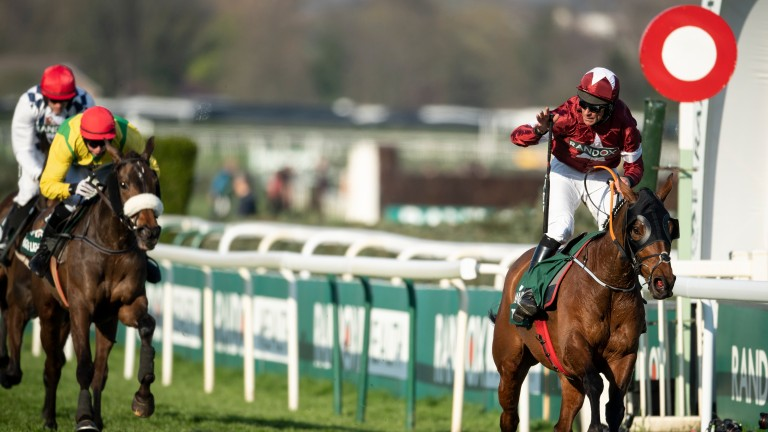 History maker: Tiger Roll passes the line with lengths to spare