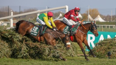 Tiger Roll and Davy Russell lead from runner-up Magic Of Light