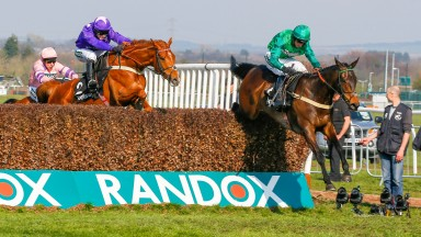 Kildisart (right) pings the last to see off Mister Malarky in the Betway Handicap Chase