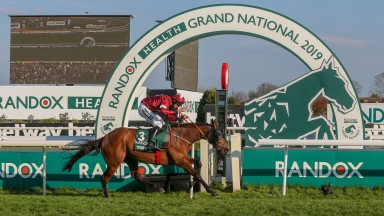 Tiger Roll crosses the line to land his second Grand National