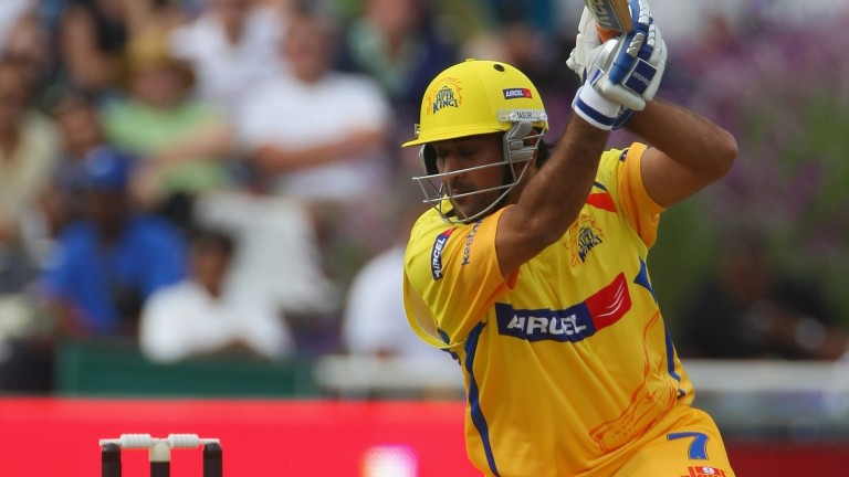 MS Dhoni of Chennai hits out against Mumbai Indians