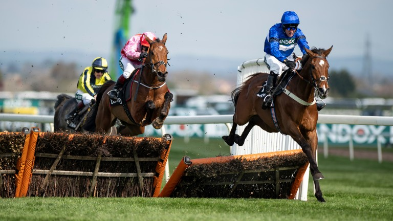 Reserve Tank: impressive winner of the Mersey Novices' Hurdle at Aintree