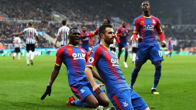 Luka Milivojevic could convert from the spot for Crystal Palace against Man City in the Premier League