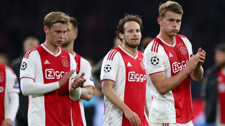 Ajax put in a spirited display in the first leg of their Champions League quarter-final tie with Juventus