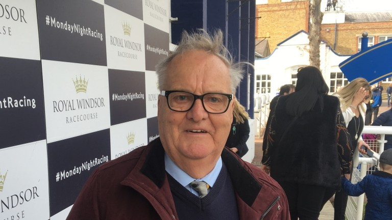 Barry Veasey: had good reason to smile as the owner of a 25-1 winner