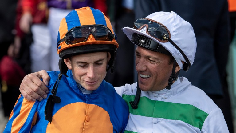 Ryan Moore and Frankie Dettori will face off in the fillies' maiden at Newmarket's Craven meeting