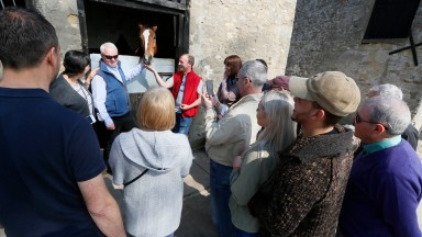 People get chance to meet Sam Spinner and Jedd O'Keeffe at his yard MIDDLEHAM OPEN DAY 2019Good Friday 19th April 2019Pic Louise Pollard